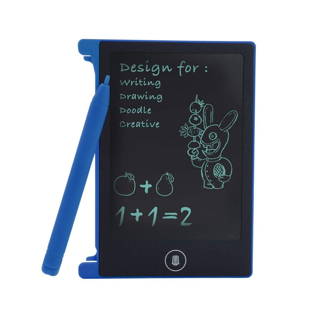 Tiean Kids LCD Writing Tablet Doodle Board Kids Light and Thin Pressure Sensitive Writing Pad Drawing Graphics Board Kids Gift Educational Tool,4.4 inch Blue