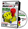 Mastercam X8-X9 3D Advanced MILL Video Tutorial HD DVD