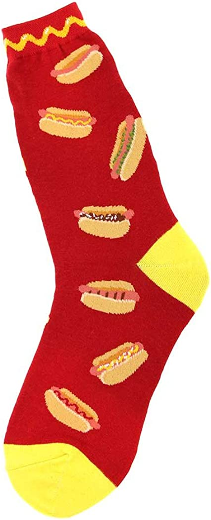 Foot Traffic Women's Cute Food-Themed Socks, Funny Gifts for Foodies, Sizes 4–10