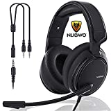 N12 NUBWO Xbox one Headset, PS4 Headset, Gaming Headphones,3.5mm Surround Stereo Gaming Headsets with Mic Soft Memory Earmuffs for PC,Laptop,Video Game with Flexible Microphone Volume Control: more info