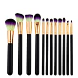 Letdown(TM),12pcs Pro Makeup Brushes Set Foundation Powder Eyeshadow Eyeliner Lip Brush Beauty Tool (C)