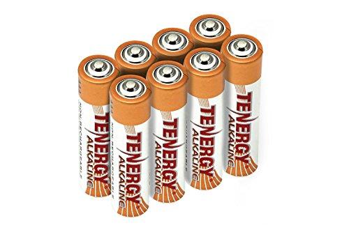 Card: 8pcs Tenergy AAA Size Alkaline Batteries