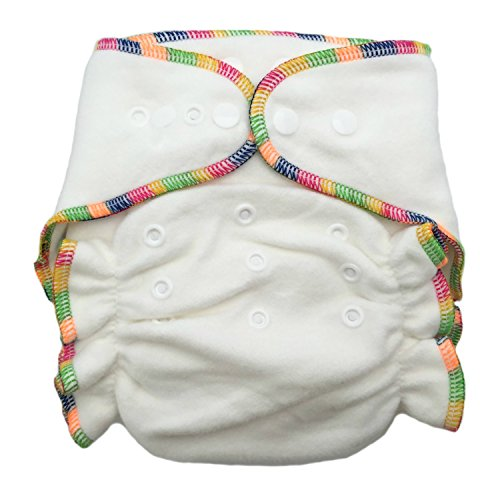Heavy Wetter Bamboo / Organic Cotton One Size Fitted Diaper