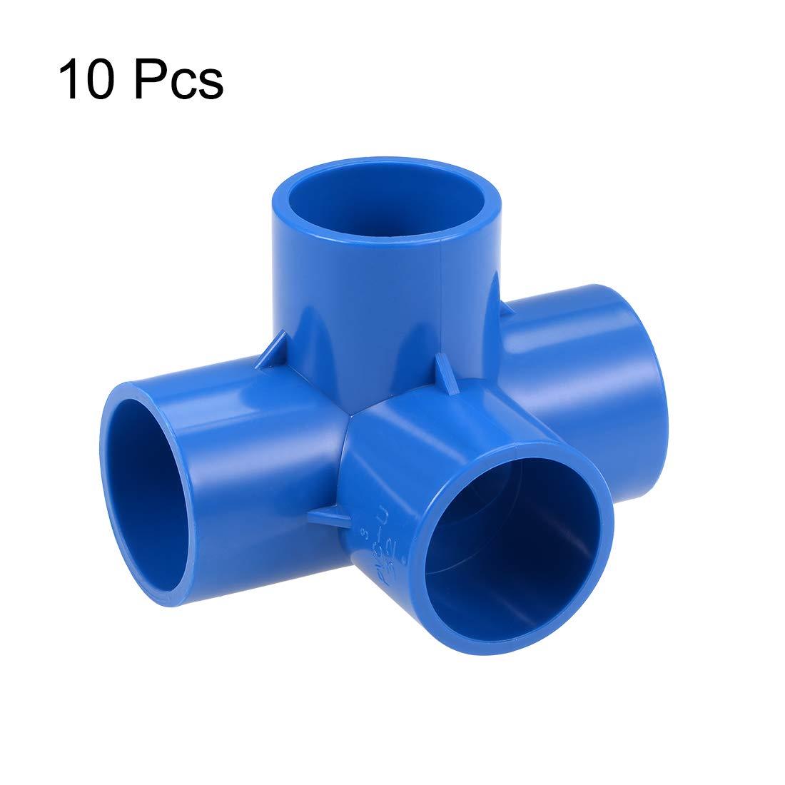 Accesorios de Codo de Pvc para Rociadores de Irrigaci/ón Azul 32 mm 2 piezas sourcing map Codo de Conexi/ón de Pvc de 4 V/ías en T Muebles de Pvc