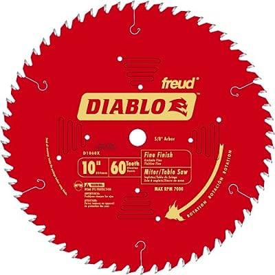 "Diablo D1060X 10"" 60T Diablo™ Fine Finish Work Chop Miter and Table Saw Bl"