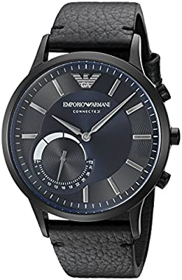 Emporio Armani Connected Hybrid Smartwatch Men's ART3004 Black Leather from Emporio Armani Watches