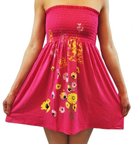 Le Tube Chocolat Cornichon Nouvelles Femmes Taille Plus Bustier Extensible Sheering Couleur Cerise Boob Mini-tops 4-16 Fleur Cerise