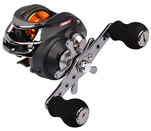 Cheap KMBEST PRO-Series Baitcasting Fishing Reel 6.3:1 Gear – Low Profile Carbon Fiber Drag 9+1 Bearing Dual Magnetic Brakes Fishing Reels
