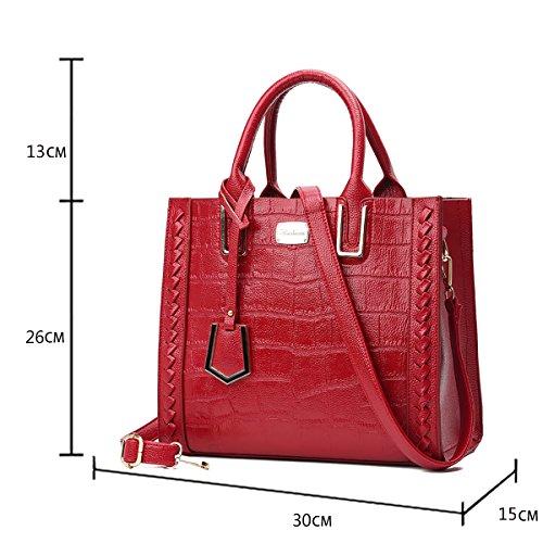de Rojo casual bandolera bolso mano Dama bolso Tisdaini Salvaje marca moda bolsas de Xq7gEWw
