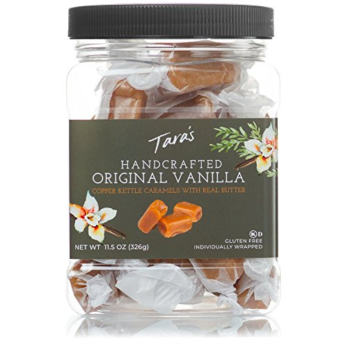 (Tara's All Natural Handcrafted Gourmet Original Madagascar Vanilla Caramel: Small Batch, Kettle Cooked, Creamy & Individually Wrapped - 11.5 Ounce)