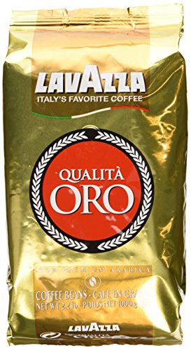 Lavazza Whole Bean - Lavazza Qualita Oro Italian Coffee Whole Beans 2.2 Pound