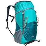 G4Free Lightweight Packable Water Resistant Large 40L Travel Hiking Backpack Daypack Foldable 6 High CAPACITY: Larger than other packable backpack! 40L! Large enough to carry what you need in the trip,It's roomy enough for your hammock, clothes, towel, journal,and a couple beers if needed, etc. NOTE: the backpack is 40L+ when it is fully packed. HANDY AND LIGHTWEIGHT: It fits into an ultra-compact pouch. Easy to folds up into small pocket. So you can easily pack it in your suitcase, purse or car and have an extra bag without it taking up. DURABLE: The backpack is made from High Quality Water and Tear Resistant Nylon fabric, provide strengthen and long-lasting performance with minimal weight; Adjustable and breathable padded shoulder and strap to meet different requirements for both men and women