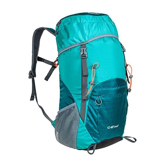G4Free Lightweight Packable Water Resistant Large 40L Travel Hiking Backpack Daypack Foldable 2 High CAPACITY: Larger than other packable backpack! 40L! Large enough to carry what you need in the trip,It's roomy enough for your hammock, clothes, towel, journal,and a couple beers if needed, etc. NOTE: the backpack is 40L+ when it is fully packed. HANDY AND LIGHTWEIGHT: It fits into an ultra-compact pouch. Easy to folds up into small pocket. So you can easily pack it in your suitcase, purse or car and have an extra bag without it taking up. DURABLE: The backpack is made from High Quality Water and Tear Resistant Nylon fabric, provide strengthen and long-lasting performance with minimal weight; Adjustable and breathable padded shoulder and strap to meet different requirements for both men and women