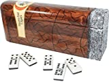 Domino In Cigar Shape Box. Double Nine Set. Professional Size Tiles