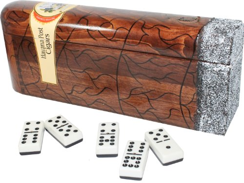 Domino In Cigar Shape Box. Double Nine Set. Professional Size Tiles by Sentir Cubano