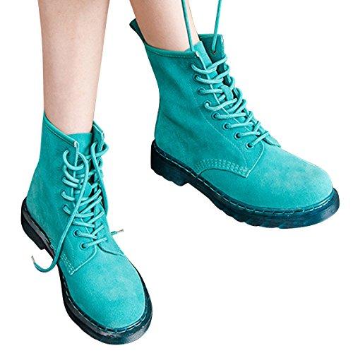 Stivaletti Da Donna In Pelle Scamosciata Vintage Scarpe Da Ginnastica Con Plateau Da Combattimento Scarpe By Car Time Green