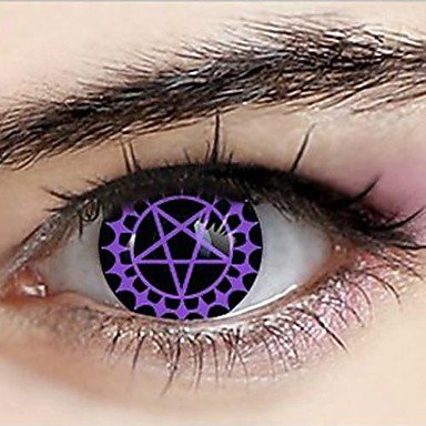 Black Butler Ceil Phantomhive Demonic Pact Cosplay Contact Lenses(1 Pair)