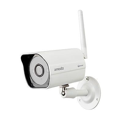 Zmodo Cámara de vigilancia por radio de 1 Mpx, HD 720P, WiFi, WLAN