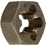 "Drill America DWT Carbon Steel Hex Threading Die (#4-40 - 5""-8,  m1.6x.35 - m50x1.5, Standard and Left Hand), Uncoated (Bright) Finish"