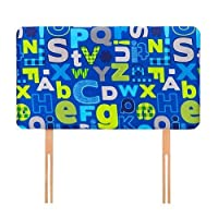 Ready Steady Bed Alphabet Design Children's Single Headboard 3ft Bed Size Foam Upholstered