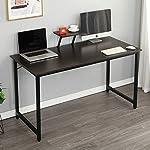 soges Office Table Meeting Training Desk Writing Desk Workstation Desk Computer Table Gaming Desk, Black WK-JK100-BK
