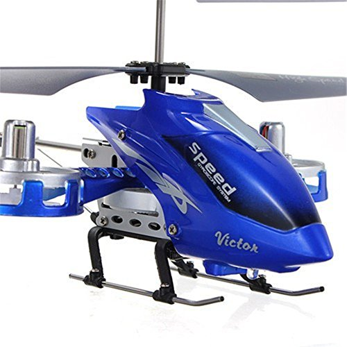 Taipove 4 CH RC RF Remote Control Helicopter Aircraft Toy Blue