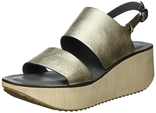 Lilimill Fosca, Sandales Bout Ouvert Femme Gold (oro)