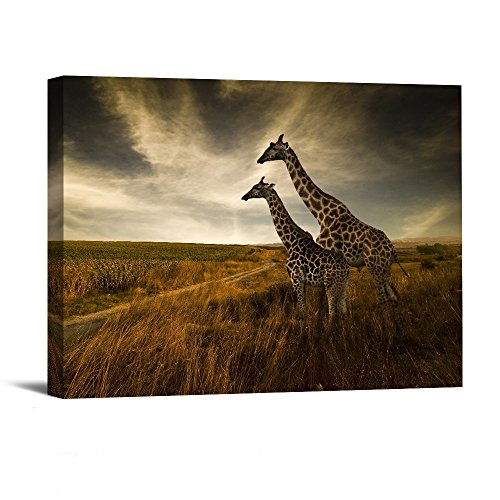 Prints Artwork Two Giraffes Pictures Paintings on Canvas Wall Art for Home Decor 12