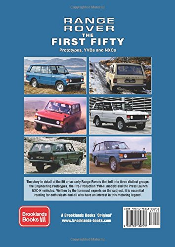 Range rover the first fifty history brooklands books range rover the first fifty history brooklands books 9781783180028 amazon books fandeluxe Gallery