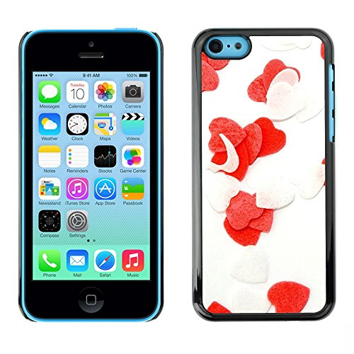 Soft Silicone Rubber Case Hard Cover Protective Accessory Compatible with Apple iPhone 5C - Love Flowers Heart