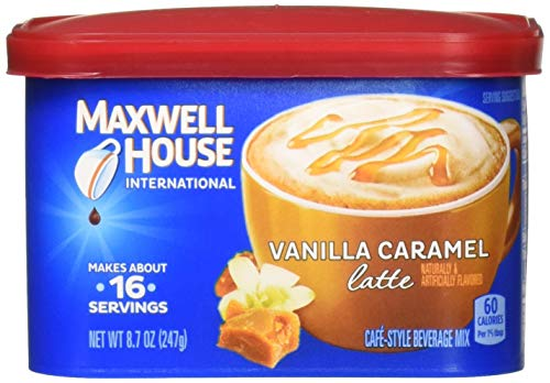 Maxwell House International Latte Vanilla Caramel Flavored Instant Coffee 8.7 Oz. (2 Pack) from MAXWELL HOUSE