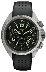 Rogue Warrior Avenger Silver Silicone Rubber Band 200M Chronograph Watch