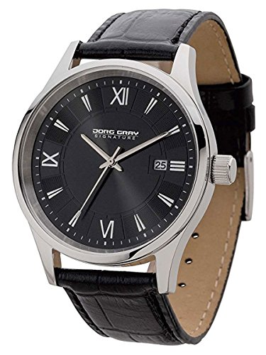 Jorg Gray JS2020 Black Dial and Black Leather Strap Men's Watch by Jorg Gray