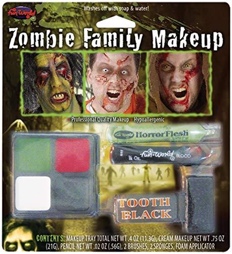 Fun World - Zombie Family Makeup Accessory Kit