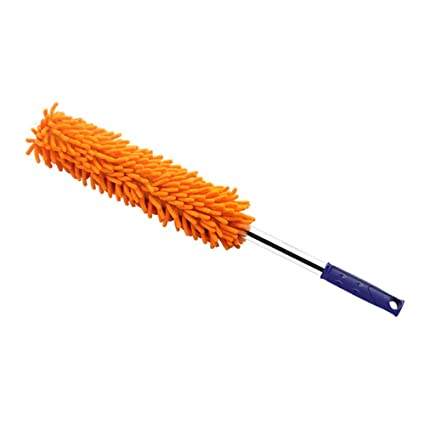 Car Care KKmoon Relentless Drive Ultimate Dash Duster Professional Detailing Tool Car Cleaning Brush Orange