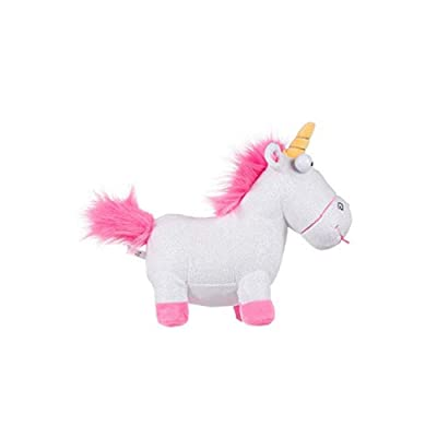Posh Paws 9342 Despicable Me 3 Glitter Fluffy The Unicorn Soft Toy Plush: Toys & Games