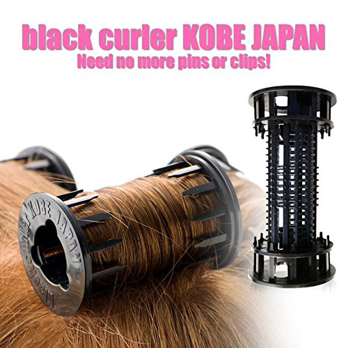 finest selection 35ff0 b67df Hair Rollers   Black Curler Kobe Japan   8 Rollers in One Package   You Can