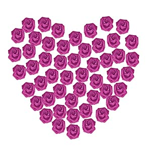 GBSELL 50 Pcs Colorful Foam Roses Artificial Flower Valentine's Day Decorations Wedding Party (Hot Pink) 88