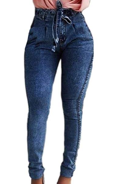 Huateng Cinturón de Flecos elásticos para Mujer Pantalones ...