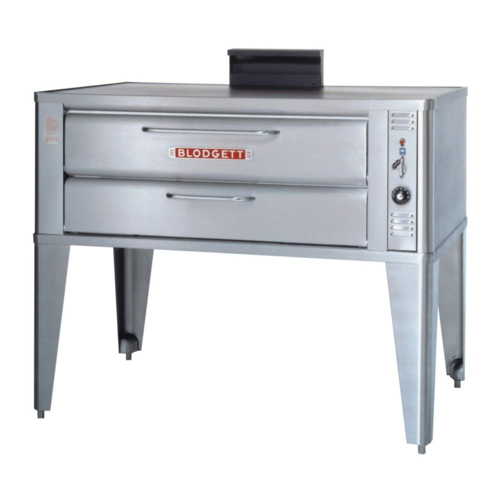 Large Gas Pizza Deck Oven - One 961P Base Section With 27-1/2 Inch Black Adjustable Legs, Stainless Steel Draft Diverter Or Draft Hood And Large Crown Angle Trim -- 1 Each.