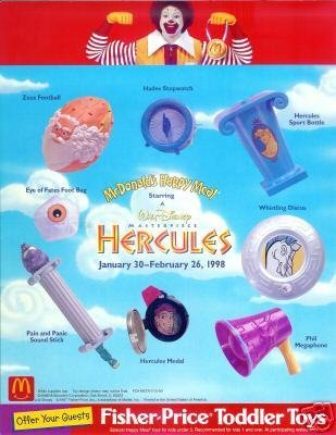 McDonalds - Hercules Happy Meal Set - 1998 ()