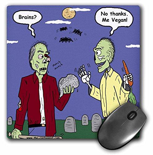 Rich Diesslins Funny General Cartoons - Halloween - Zombie Vegans - MousePad -