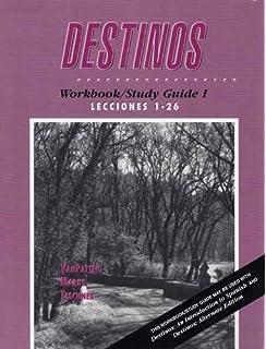 Workbookstudy guide i lessons 1 26 to accompany destinos an destinos workbookstudy guide 1 lecciones 1 26 fandeluxe Choice Image