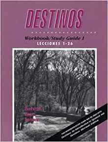 Destinos: Workbook/Study Guide 1 book by Bill Van Patten ...