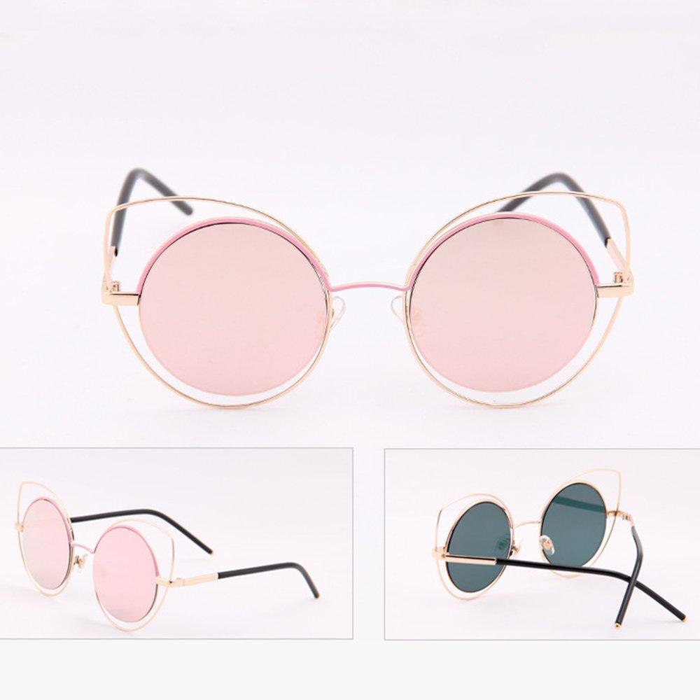 Eizur Donne Occhiali Da Sole Occhi di Gatto Occhiali Eyewear Retro A Forma Di Freccia Specchio Sunglasses UV400 con Caso - Rosa + Oro VpJnJ