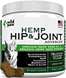 Wildpaw Organic Hemp Hip & Joint Supplement for Dogs with Glucosamine, Chondroitin, MSM, Turmeric, Organic Hemp Oil + Hemp Powder - Healthy Dog Treats for Improved Mobility & Pain Relief - 90 Chews