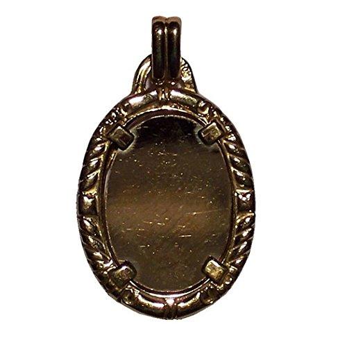 Plaque pendentif 18k ovale d'or pour enregistrer [79GR] - personnalisable - ENREGISTREMENT inclus dans le prix
