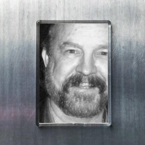 Seasons JIM BEAVER - Original Art Fridge Magnet #js004