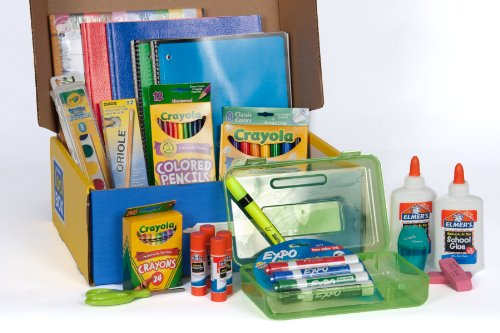 School Tool Box First Grade Mega School Supplies Kit in Keepsake Box