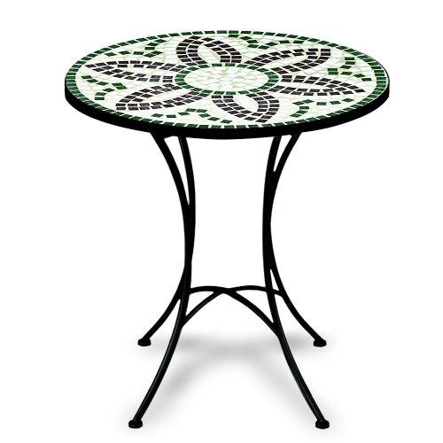 Luxus Mosaiktisch FLORA Bistrotisch Mosaik Bistro Beistelltisch Gartentisch